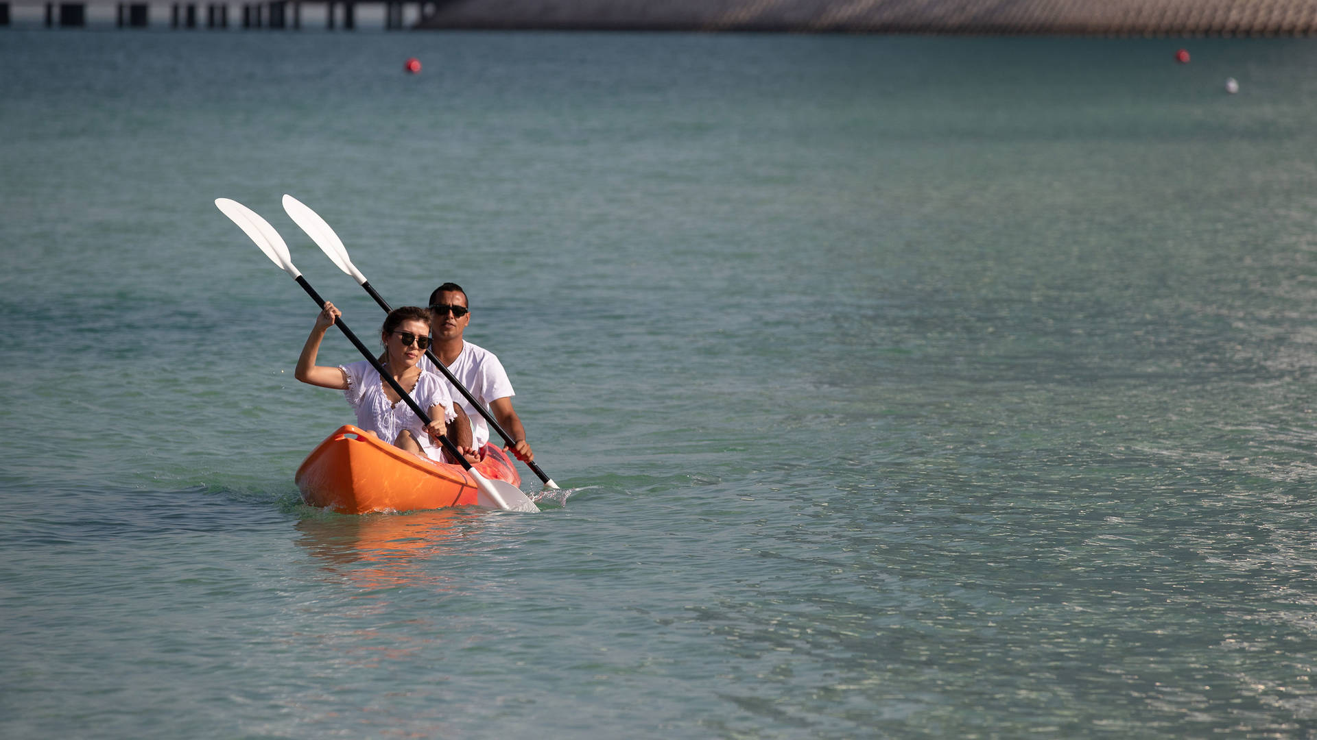 Couple in the kayak