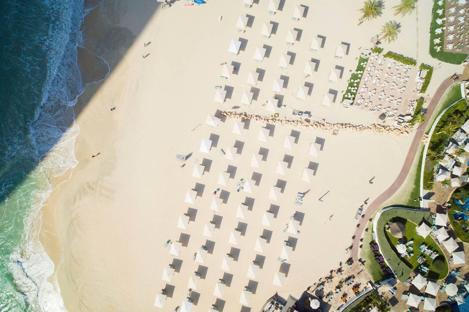 Aerial View of the beach at Jumeirah Beach Hotel