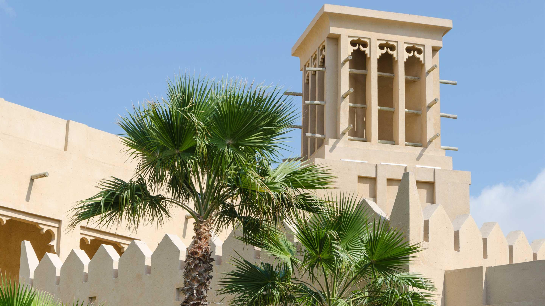 16-9 Photo Copy of Old wind tower Bastakiya Dubai