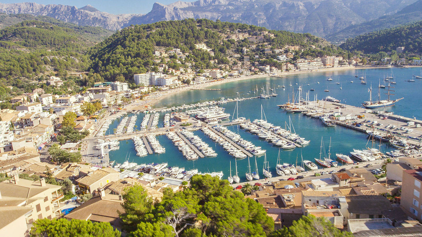 Aerial view of Port Soller