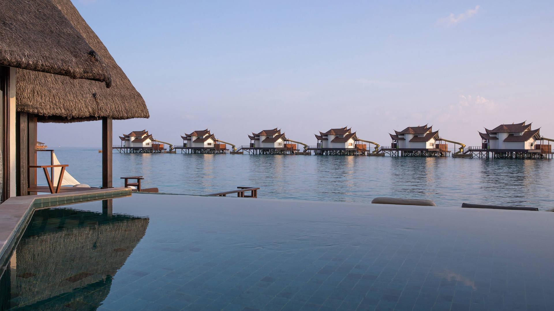View at the Jumeirah Vittaveli hotel