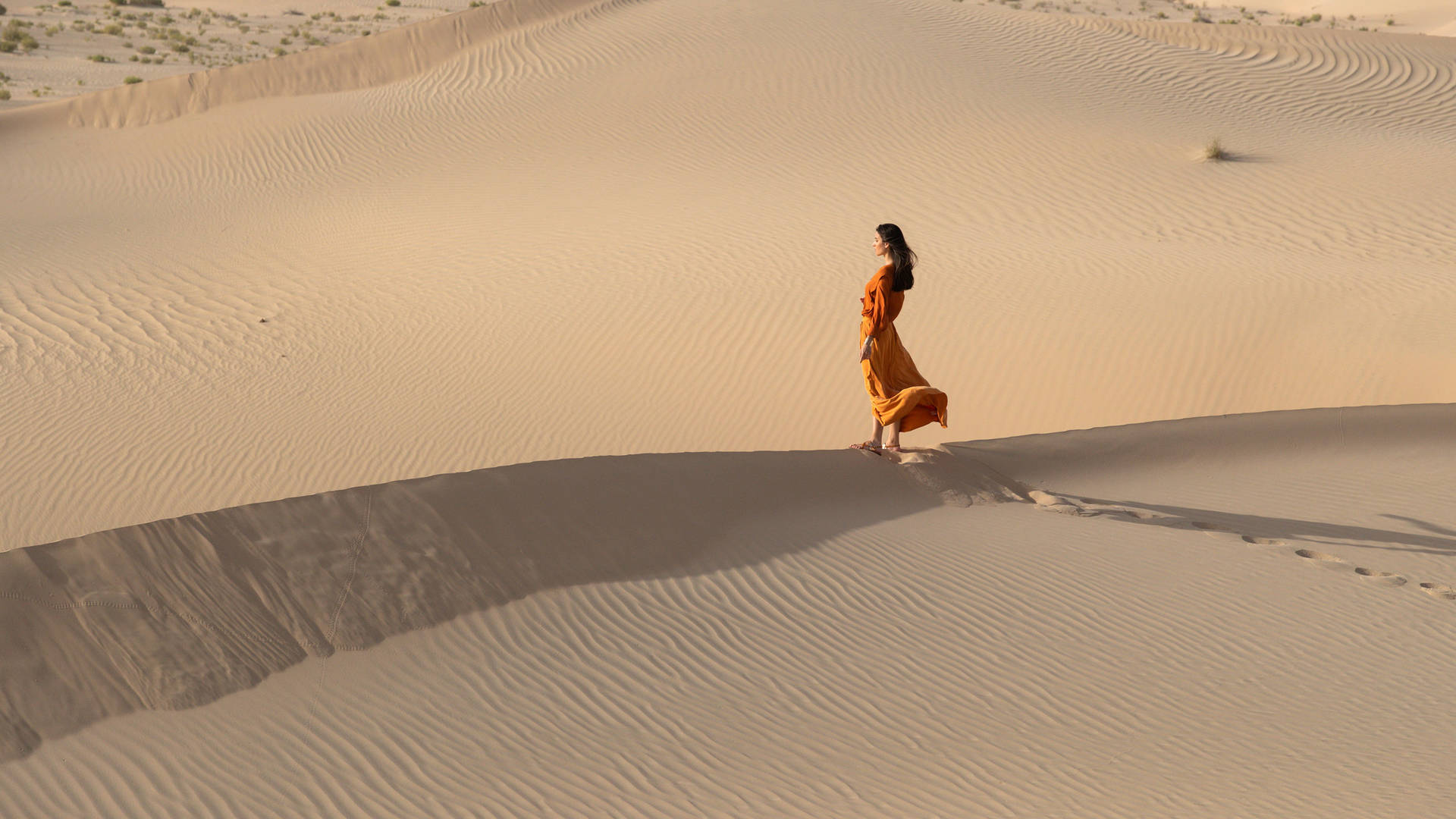 Lady on the dune