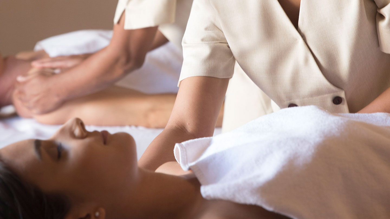 Woman enjoying massage at Jumeirah Talise Spa
