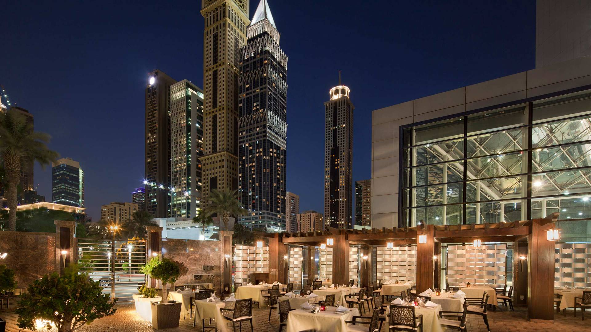 View of Al Nafoorah restaurant at Jumeirah Emirates Towers