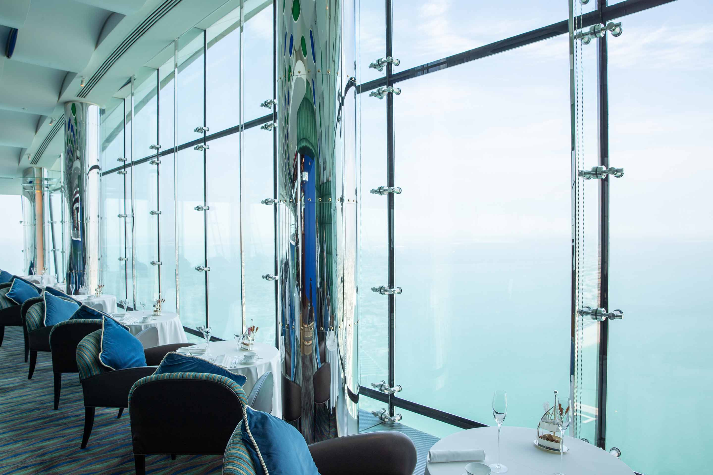 Burj Al Arab Skyview bar and restaurant seating