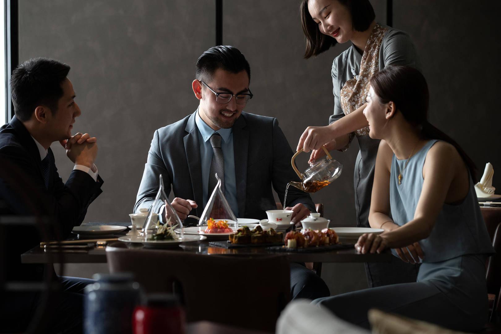 Jumeirah Nanjing Lu Chao Business lunch