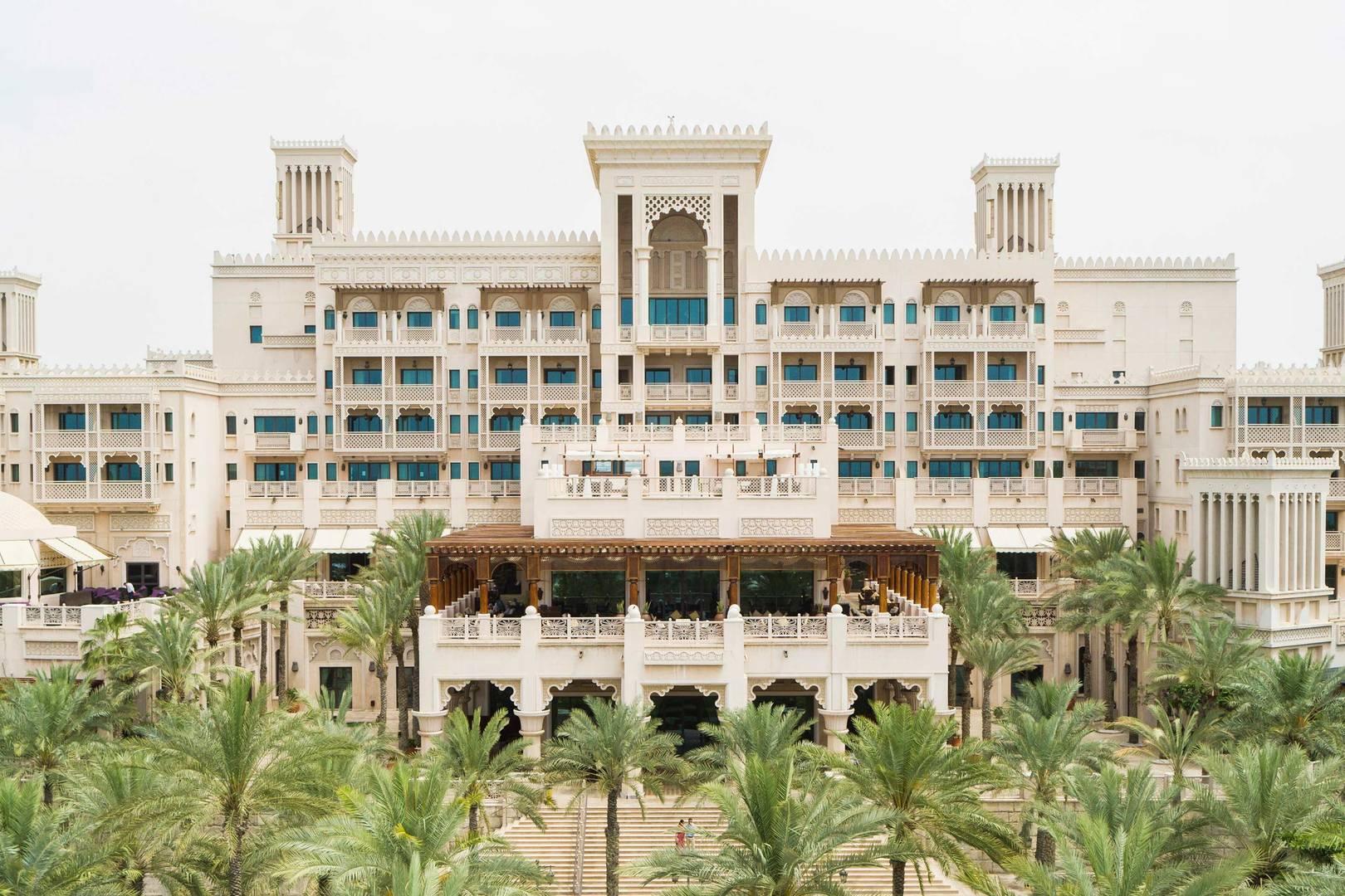 View of the facade of the Jumeirah Al Naseem Hotel