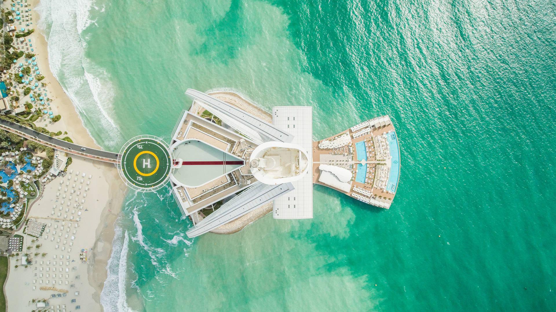 Burj Al Arab Jumeirah Aerial Drone