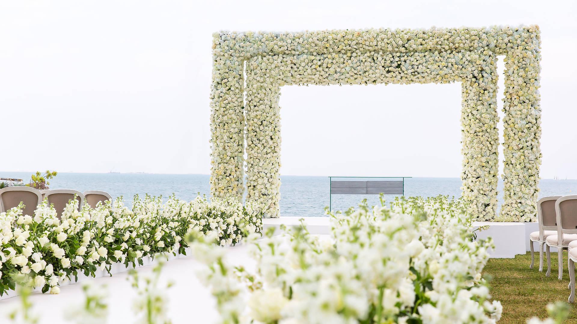 Burj Al Arab Jumeirah Palm Garden Wedding