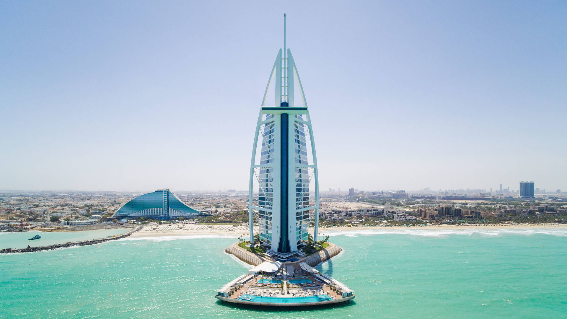Burj Al Arab Terrace Aerial Drone
