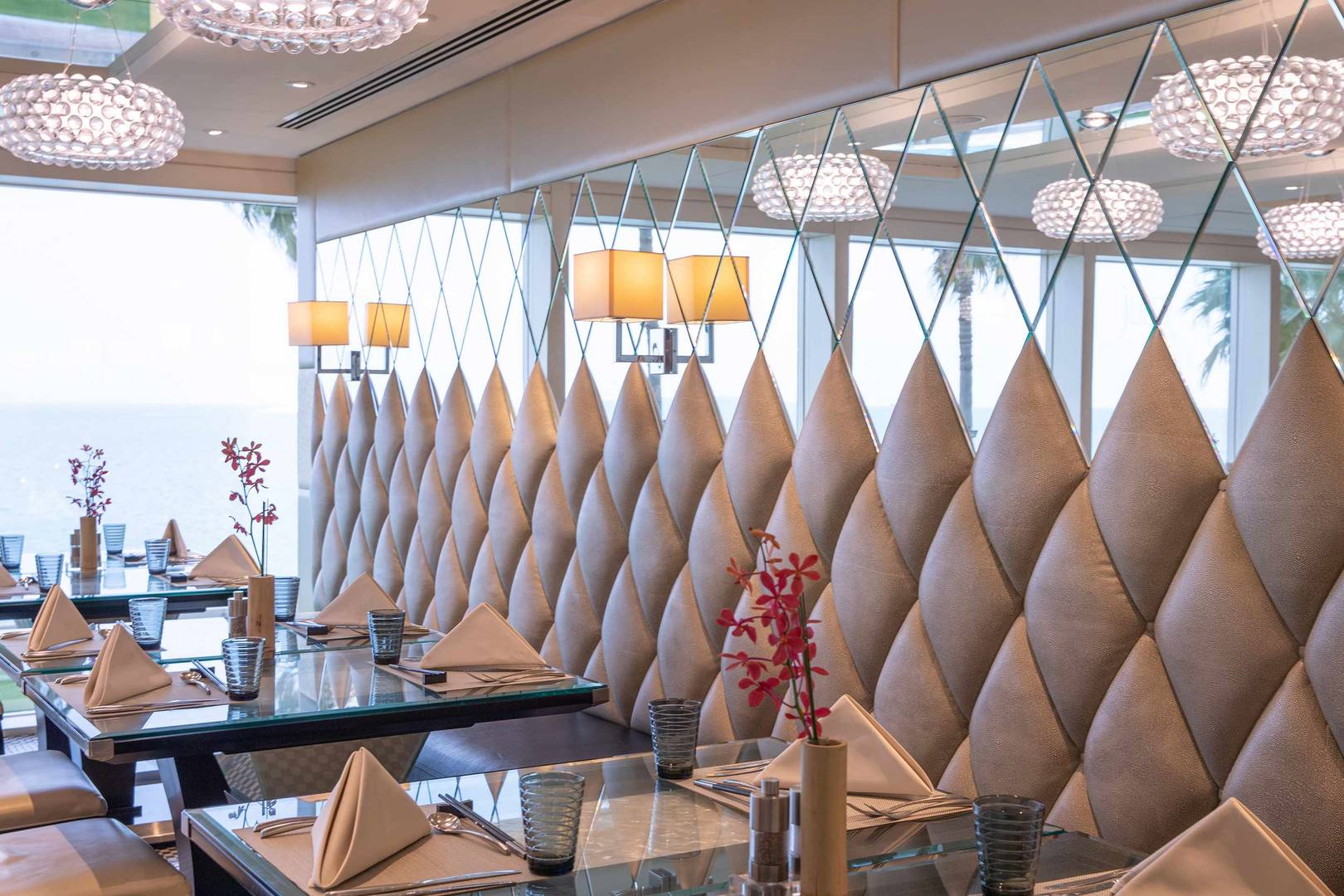 Interior of the Junsui Restaurant at Jumeirah Burj Al Arab