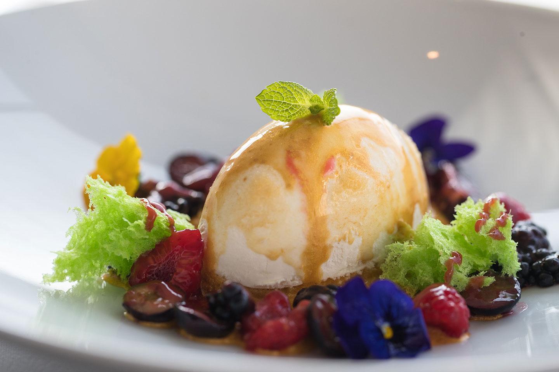 Dessert closeup at Jumeirah Emirates Towers